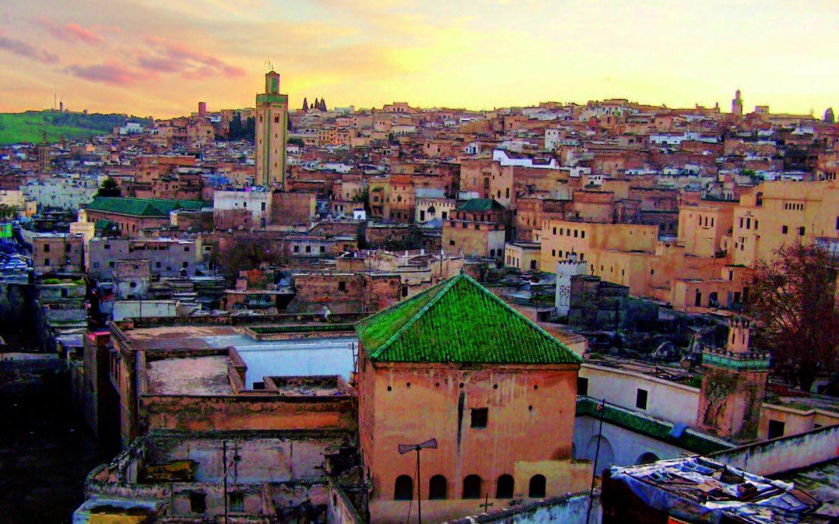 Cityscape of Marrakech, Morocco